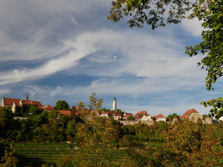Die Altstadt von der gegenüberliegenden Talseite aus betrachtet