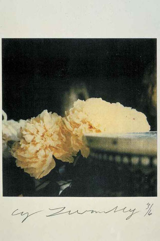 """Cy Twombly """"Peonies"""" - 1980"""