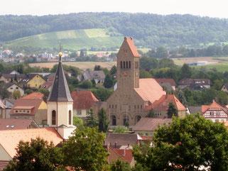Ein Dorf - zwei Kirchtürme, aus dem Ortsfamilienalbum Flehingen