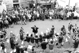Kirchweihkonzert des Musikvereins Oberderdingen vor einem Vierteljahrhundert