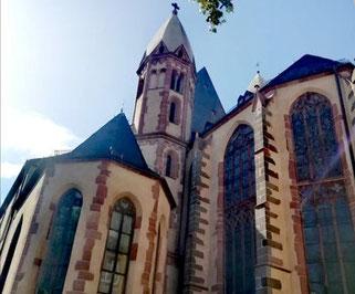 église St Leonhard Francfort route St Jacques Compostelle