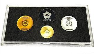 K18 SV925 銅 日本万国博覧会 EXPO 70 記念メダル 3枚セット