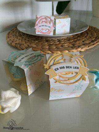 Stampin up transparente Mini-Geschenkschachteln