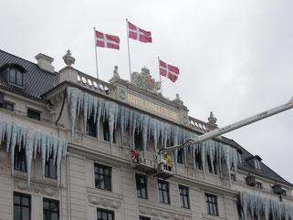Winter, Weihnacht, Wunderland: Auch das berühmte Hotel d'Angleterre am Kongens Nytorv zeigt sich weihnachtlich. Foto: C. Schumann, 2019