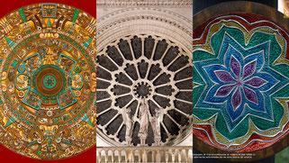 Mandala Maya, Rosetón gótico y Mandala SenderArte