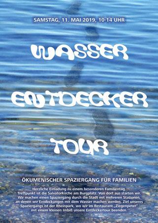 Plakat Wasser-Entdecker-Tour