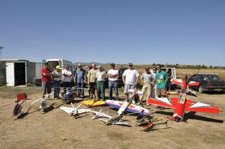 Quelques uns de nos membres et leurs modèles radiocommandés