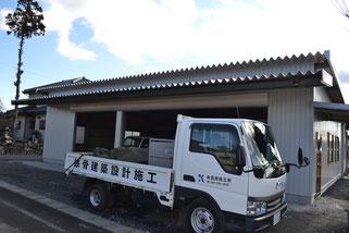 農機具用車庫(重量鉄骨)