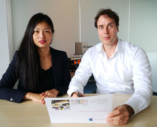 Vivian Ding and Markus Bock of Facts & Skills  -  credit: F&S