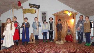 Die Kinder der Pfarrei zeigten ein Krippenspiel.