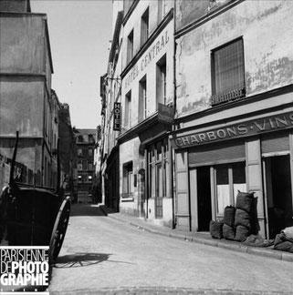 Bougnat rue Làplace à Paris 5ème en 1956