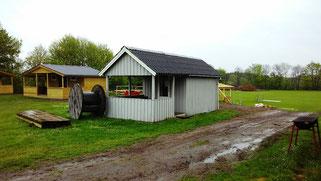 meine Hütte für diese Nacht im Haervejen Center, Kollemorten