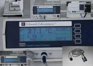 Edwards Lifesciences COM-2 Cardiac Output Computer Herzüberwachungsmonitor für Medizin und Praxis