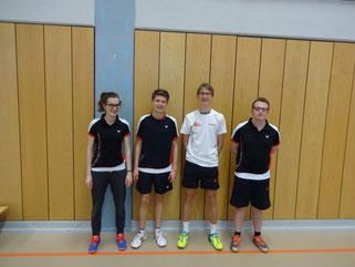 von links nach rechts: Vera Hebig, David Hilbert, Thomas Schreck, Christopher Amthor
