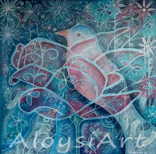 vogel, kunst, schilderij, art, Louise Adams, Hilversum, beeldend kunstenaar, beeldende kunst.