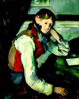 Paul Cézanne, Der Knabe mit der roten Weste, um 1888/90, Öl auf Leinwand, Stiftung Sammlung E.G. Bührle, Zürich, Foto: SIK-ISEA, J. P. Kuhn