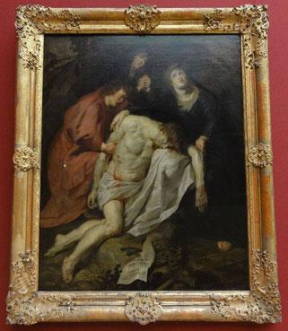 """Anthony Van Dyck - """"La déploration du Christ"""" - 1615, toile exposée à Alte Pinakothek de Munich"""