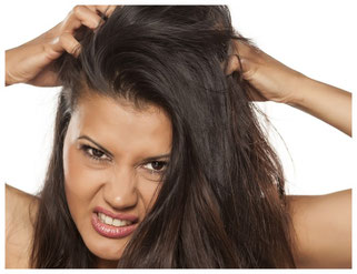 Linderung für juckende Kopfhaut