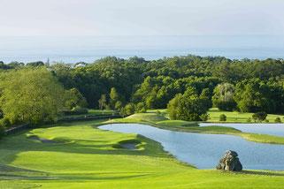 Blick vom Abschlag der 4C des Batalha Course - © Azores Golf, Allan Bradley