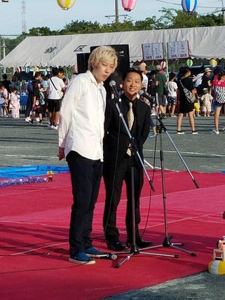 名古屋お笑い芸人 ファニーチャップ 豊明夏祭りで漫才