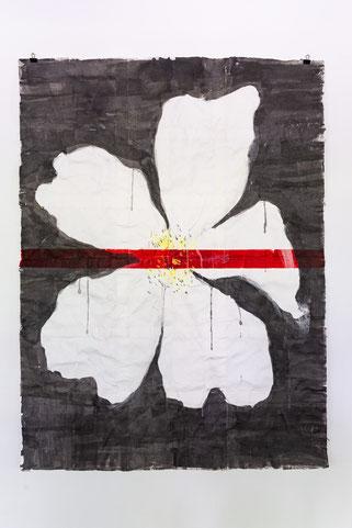 QUO VADIS II?, 2016, Papier-Pulp, Pigment, Bleisatz