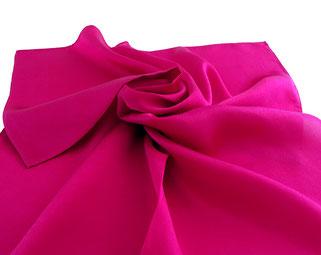 Pañuelo satin seda, rosa / fuchsia