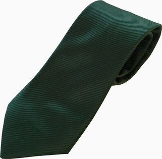 Corbata poliéster verde oscuro