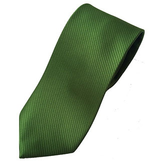 Corbata poliéster verde