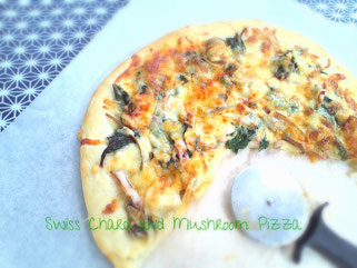 Swiss Chard and Mushroom Pizza