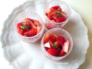 Strawberry with balsamic vinegar