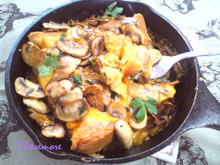 Eggy Welsh Rarebit With Sauteed Mushrooms