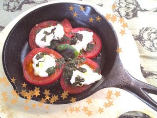 Skillet Chèvre Tomates