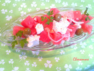 Watermelon, Feta, and Olive Salad