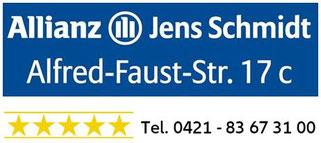 Versicherung für Bremen Arsten Tel. 0421-83673100