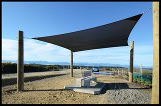 We donated a shade sail to the Nelson Cycle Trail - Enjoy the Shade!