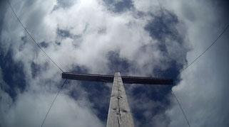 Berge Gipfelkreuz Himmel Zams Wenns Alpen Österreich E5