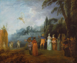 Antoine Watteau: Einschiffung nach Kythera. Fassung im Städelschen Kunstinstitut, Frankfurt am Main