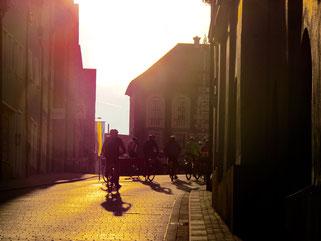 hinauf in die Altstadt zum Frühstück
