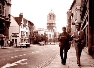 mit Frank einem deutschen Buchhändler  in Oxford unterwegs