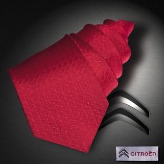 Logo Krawatte Citroen in Seide