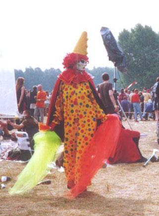 Pyari performing at the Voov Festival, Putlitz, Germany, 2001