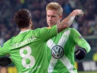Ein starker Kevin De Bruyne sichert Wolfsburg den Heimsieg. Foto: Peter Steffen