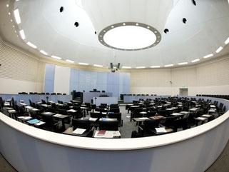 Mittagspause im Landtag. Foto: Inga Kjer