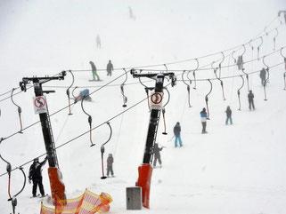 Nach kräftigen Schneefällen herrscht auf dem Feldberg im Schwarzwald Hochbetrieb. Jedoch kam es bereits zu zwei Lawinenabgängen. Foto: Rolf Haid