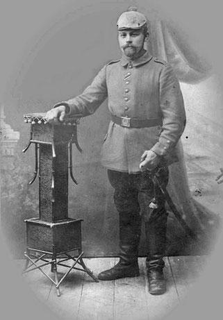 Der Sohn Kaspar Bauerdick als Kononier im I. Weltkrieg.