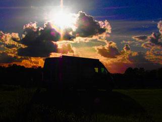 ein herrlicher Sonnenuntergang kündigt sich an