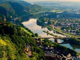 Blick auf das morgendliche Trier