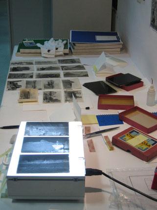 Análisis de negativos y copias en papel baritado. Archivo fotográfico LOTY. IPCE