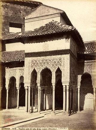Granada. 1116. Templete norte del patio de los Leones. (Alhambra). J. Laurent. Madrid. 1871. Archivo del Patronato de la Alhambra y Generalife. F-5173