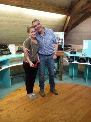 Kora mit ihrem Vater Stefan